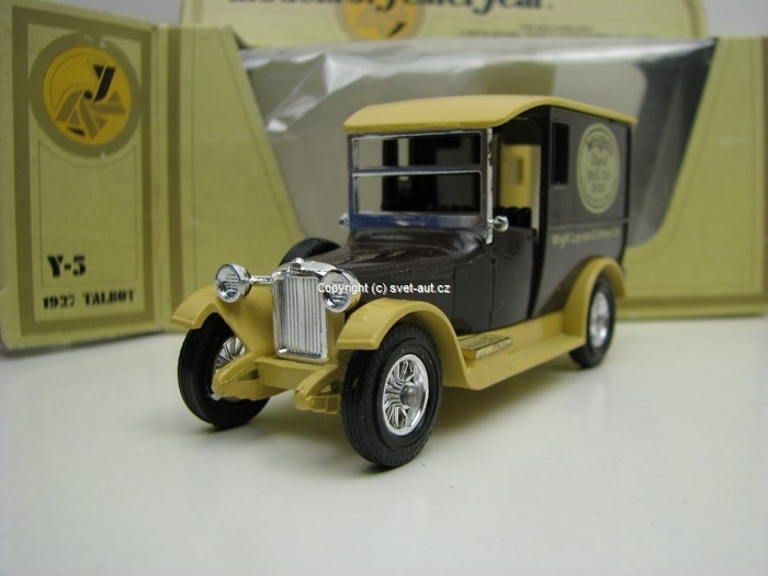 Talbot 1927 Wrights Matchbox Yesteryear